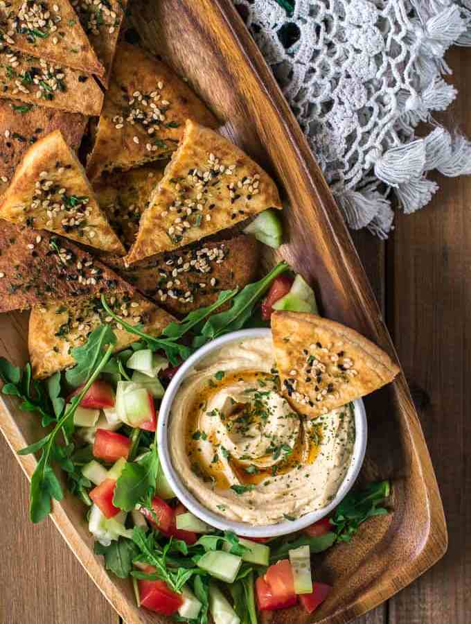 How to make crispy baked pita chips at home