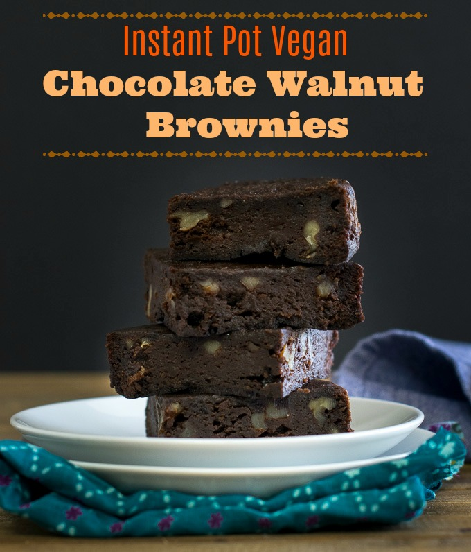 Instant Pot brownie cake / pressure cooker vegan chocolate brownies