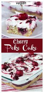 Vegan poke cake