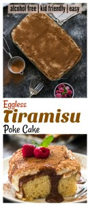 easy Tiramisu poke cake eggless