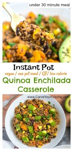 Mexican quinoa black bean enchilada casserole - Instant Pot & stovetop method