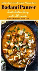 Badami paneer curry