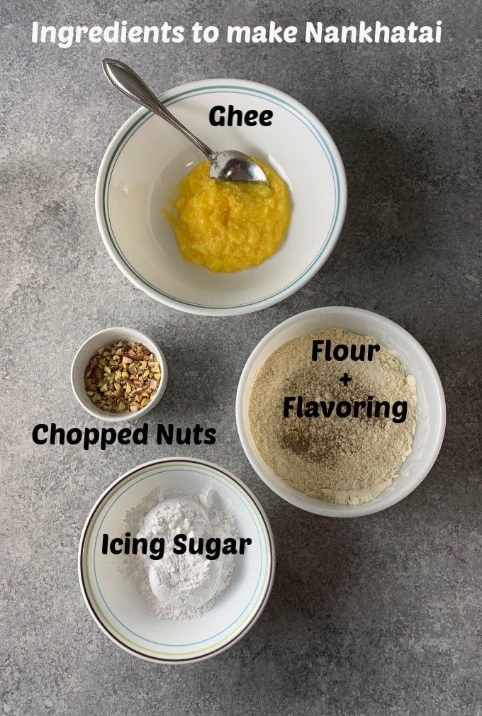 Ingredients of making nankhatai recipe