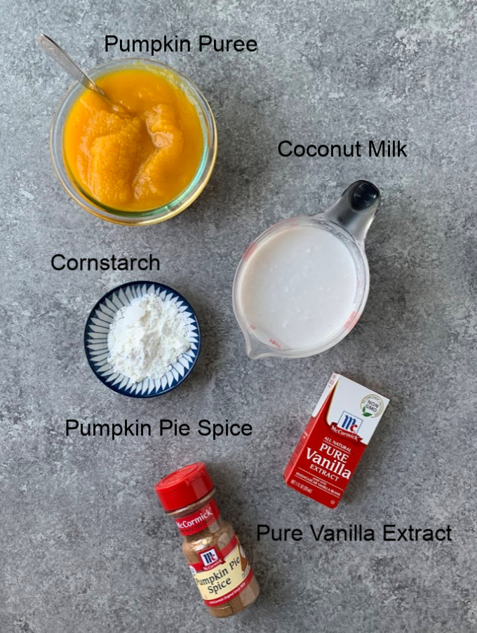 Ingredients for the Pumpkin Pudding