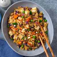 Vegetable Tofu Fried Rice (Just 15 minutes)