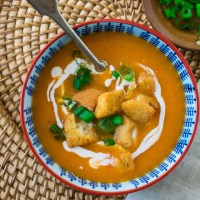 Indian Vegetarian Tortilla Soup