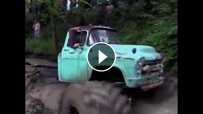 Old Chevy Truck Is Turned Into A Cool Monster Truck With