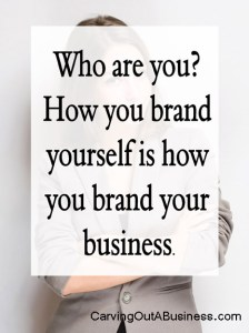 You need to brand yourself as a salesperson each time you head out to sell your wares