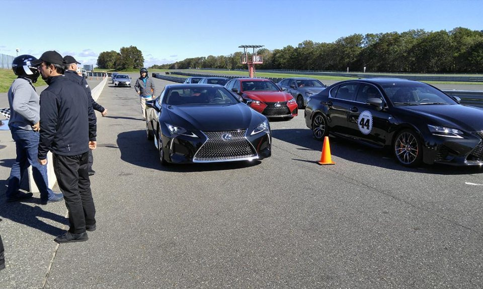 Lexus LS and IS - F-Sport models on the track