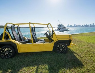 Legendary Mini Moke Comes To America As Electric Beach Buggy
