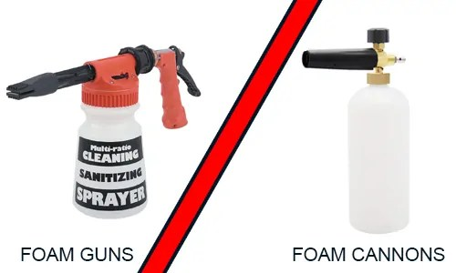 foam guns vs foam cannons