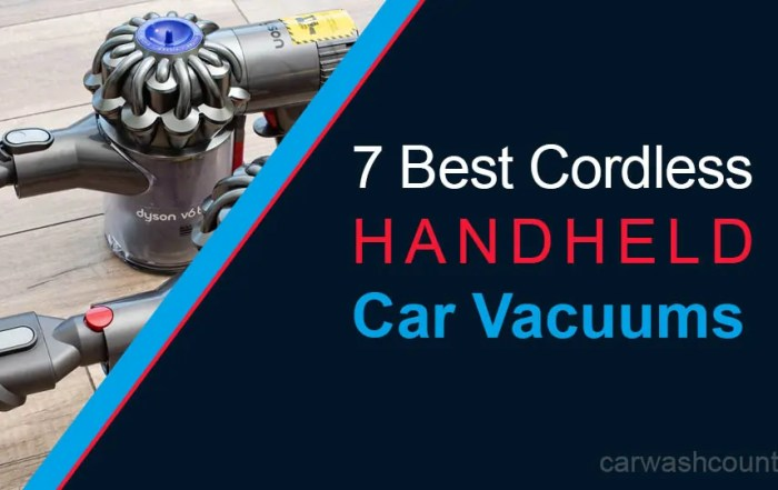 Best Cordless Handheld Car Vacuum