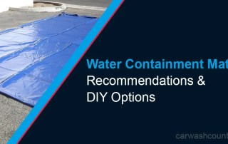 DIY water containment mat recommendations