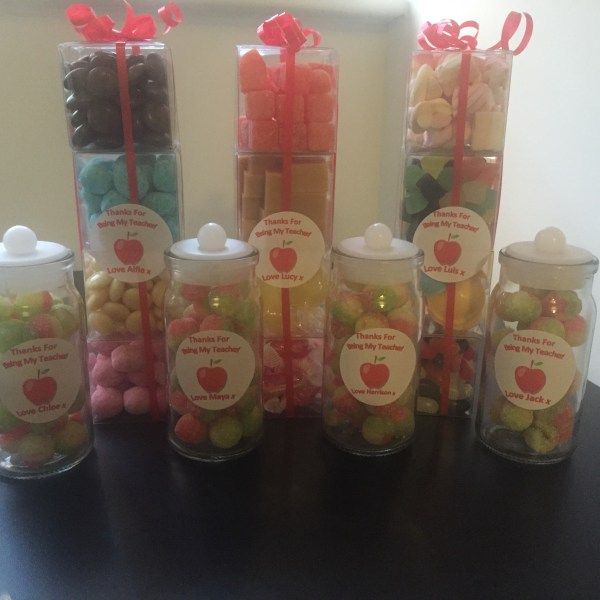 Rosy Apple Teacher Jars