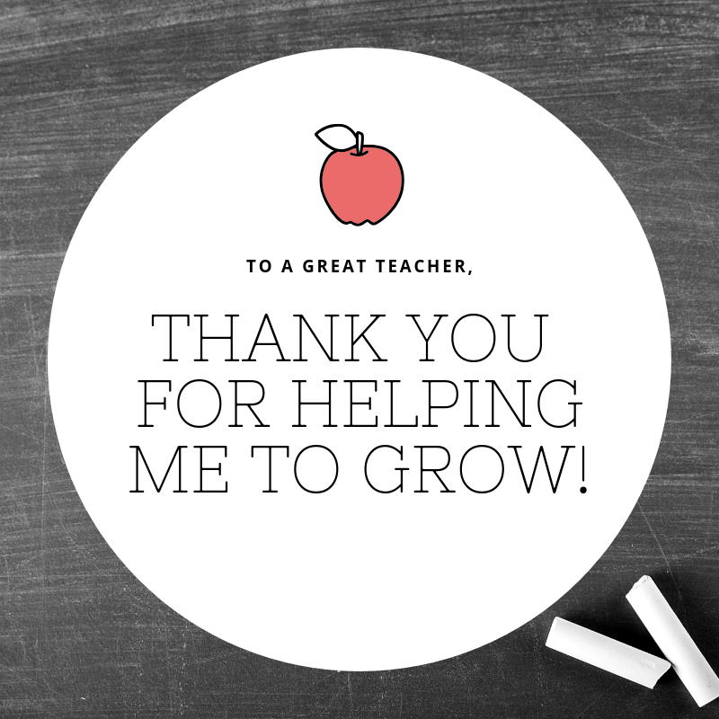 Thank You for helping me to grow!