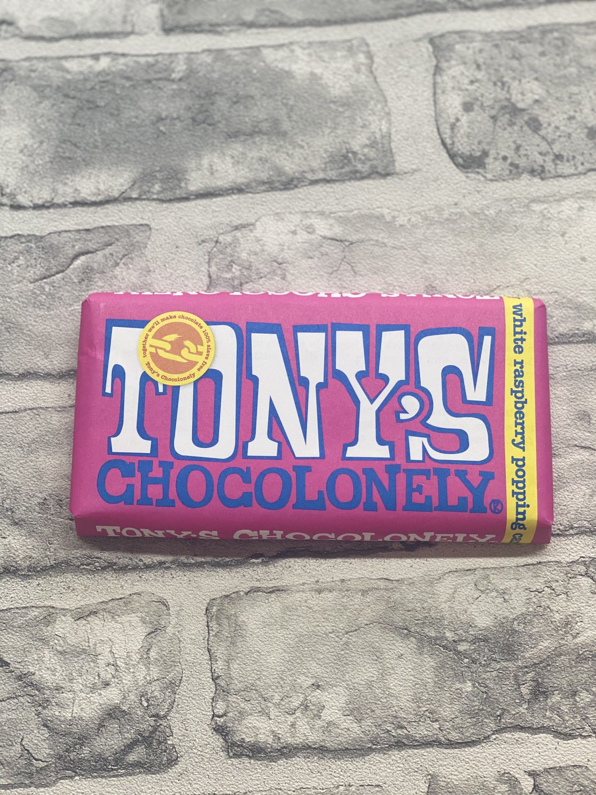 Tony's Chocolonely - White Raspberry Popping Candy 28%