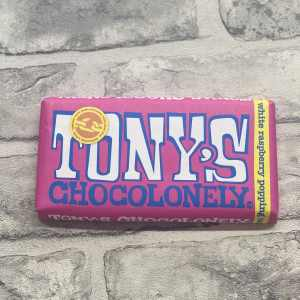 Tony's Chocolonely – White Raspberry Popping Candy 28%