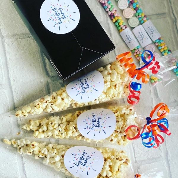 Happy Birthday Popcorn Cones