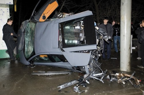 Lamborghini Murcielago after Big Crash