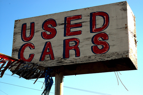 Used Car. Buying used car