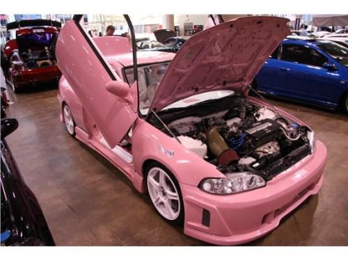 Pink Honda Civic