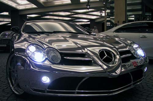 Expensive White-Gold Mercedes Benz