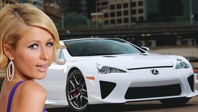 $750,000 Lexus LF-A Super Car Surprise Gift For Paris Hilton