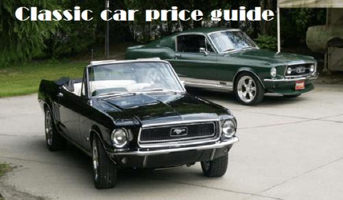 Classic car price guide