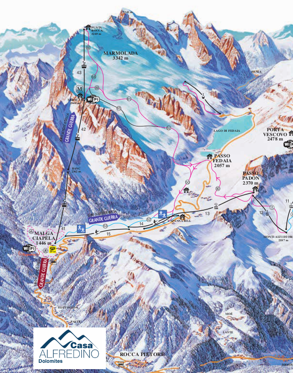 ski lifts Casa Alfredino