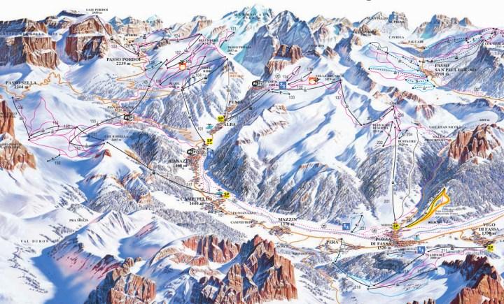 fassa ski map