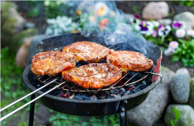grilling sausage meat
