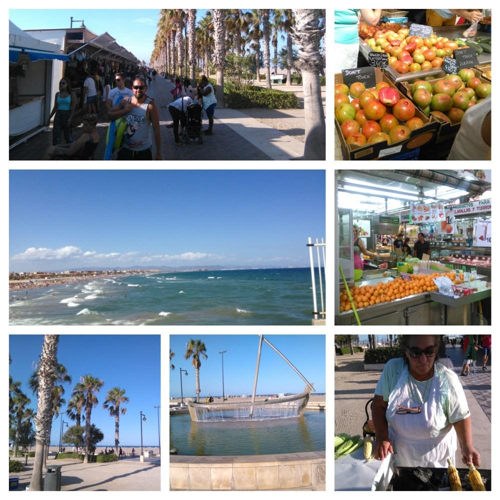 Valencia Markt, zeehaven, Malvarosa