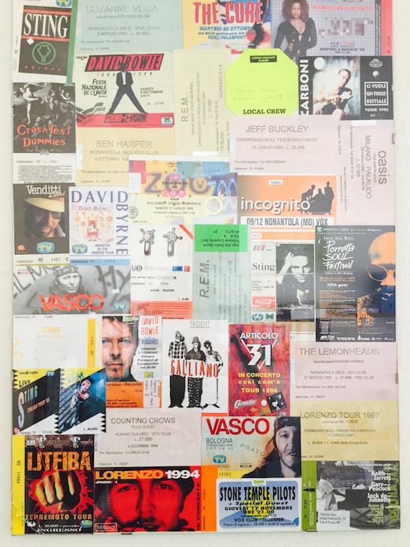 Collage biglietti concerti