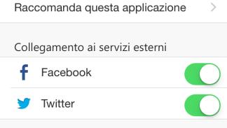 APP RCB iOS IMPOSTAZIONI