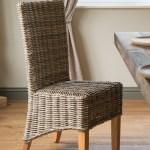 Details About Kubu Grey Rattan Wicker Dining Chair Light Leg Handmade Furniture
