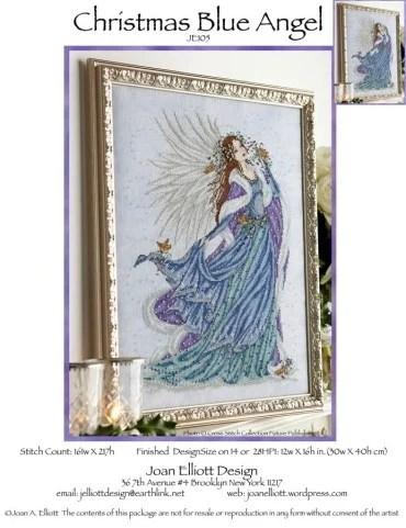 Christmas Blue Angel From Joan Elliott Cross Stitch