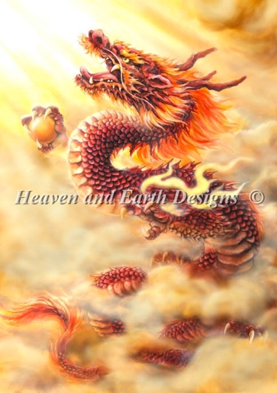 Red Dragon From Heaven And Earth Designs Cross Stitch