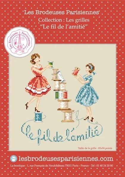 Le Fil De Lamitie De Les Brodeuses Parisiennes Grilles