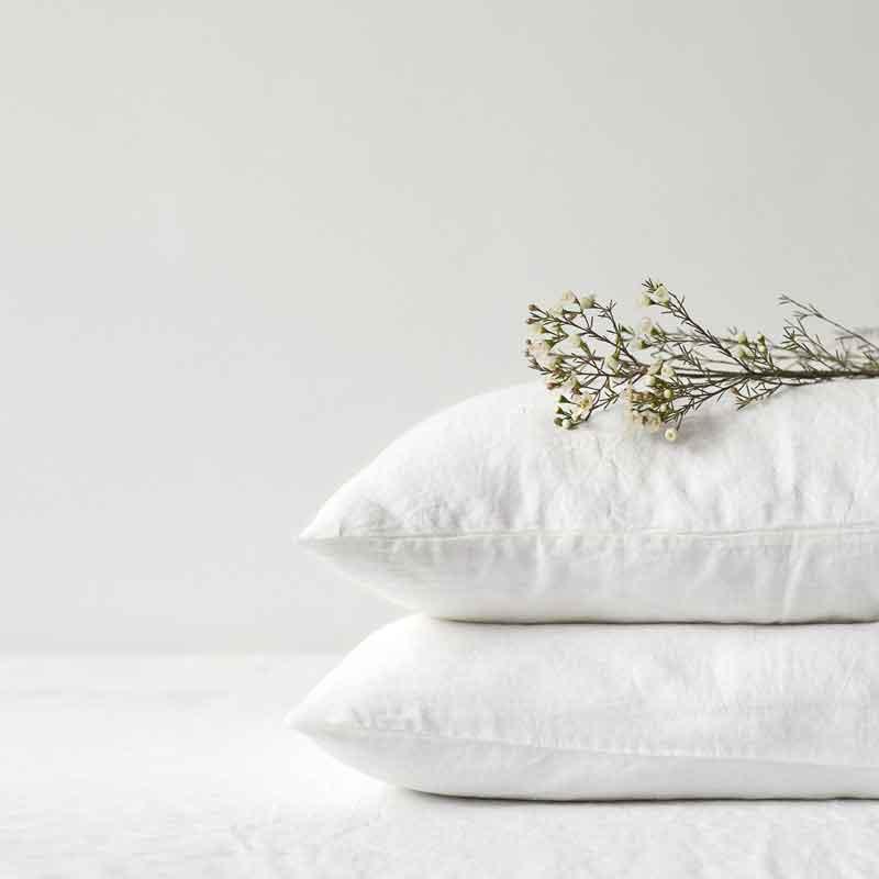 Wit linnen kussensloop White - Merk Linen Tales - online te koop bij Casa Comodo