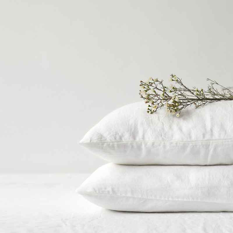 white linen duvet cover White -Casa Comodo