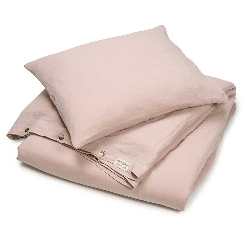 Linen duvet cover set Misty Pink