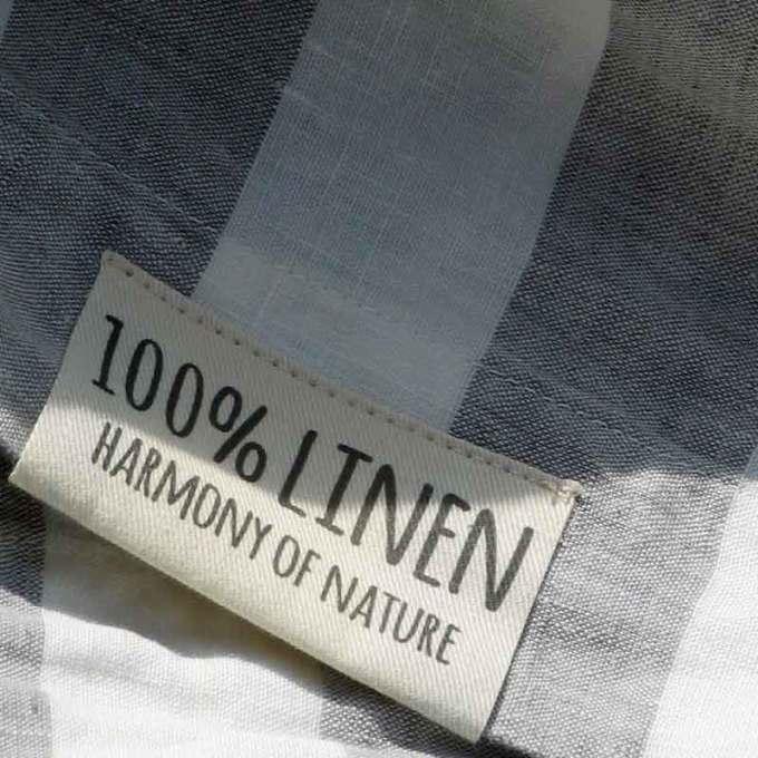 tgrijs-wit breed gestreept linnen dekbedovertrek Dove Grey - Casa Homefashion