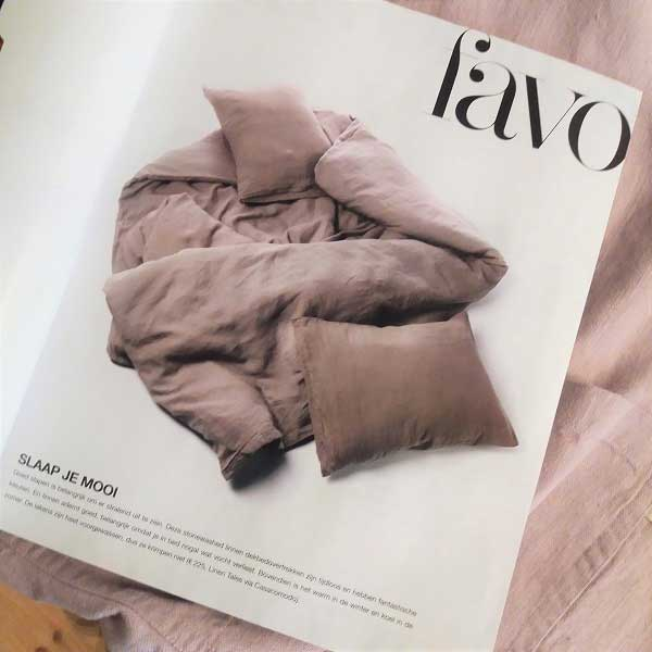 Linen duvet cover in LINDA. Favorites - Casa Comodo