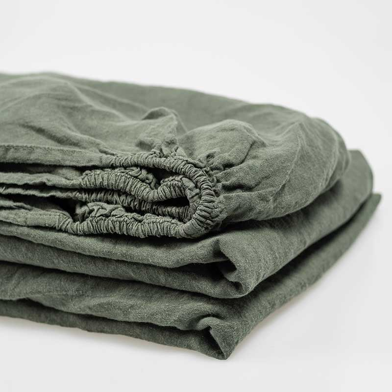 linnen hoeslaken donkergroen