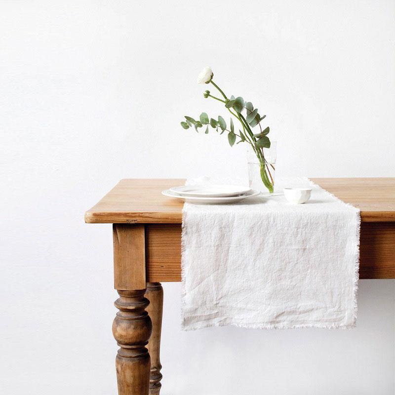 linnen tafelloper wit - Casa Comodo