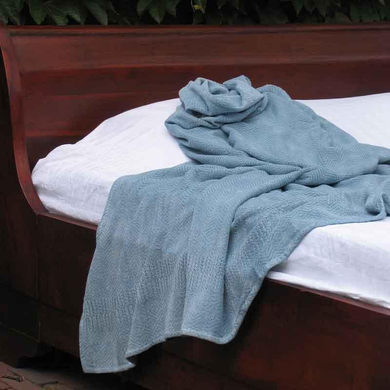 Blauw sprei Sea Mist Blue, merk Mungo - online te koop bij Casa Comodo