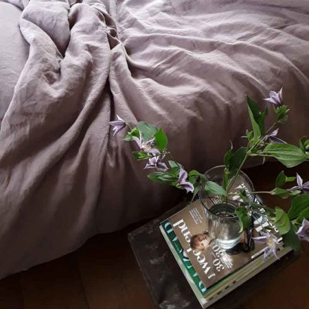 Lavender duvet cover Vintage Rose made of pure linen - The duvet cover is from the brand Casa Homefashion
