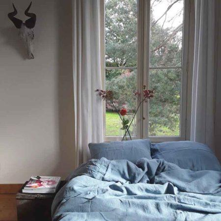 Lichtblauw dekbedovertrek Morning Blue is van het merk Casa Homefashion. Het dekbedovertrek is gemaakt van puur linnen. Online te koop bij Casa Comodo