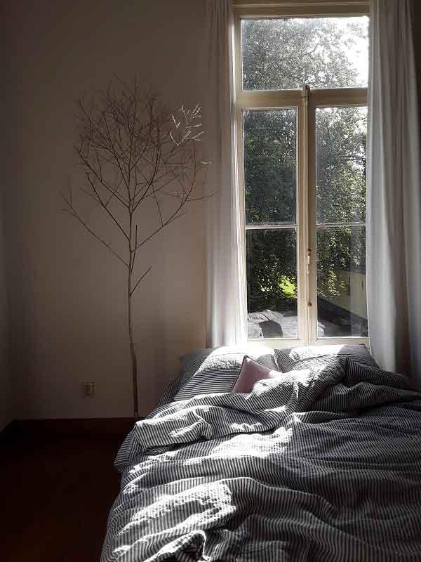 Linnen dekbedovertrek Stripe Charcoal - gestreept beddengoed - merk Casa Homefashion - online te koop bij Casa Comodo