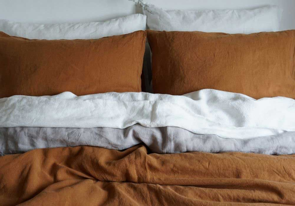 Linen duvet Cover Hazelnut Brown – Casa Comodo